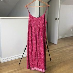 Urban Outfitters raspberry maxi dress